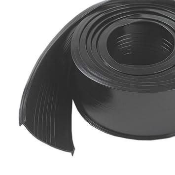 md building products steel garage door replacement vinyl 18 feet black