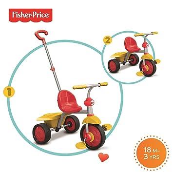 Fisher-Price Smart Trike 2 en 1 Paseo a Paseo Trike - Rojo y Amarillo