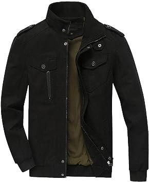 New Men/'s Zipper Jacket Collar Coat Overcoat Warm Casual Outwear Black Coats