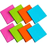 Party Essentials 2-Ply Paper Dinner Napkins. Beverage Napkins (96 Count) Assorted Neon Brights