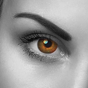 lentillas de colores marrones – sin graduación – hazelnut brown – para ojos claros & oscuros – estuche de lentillas gratis