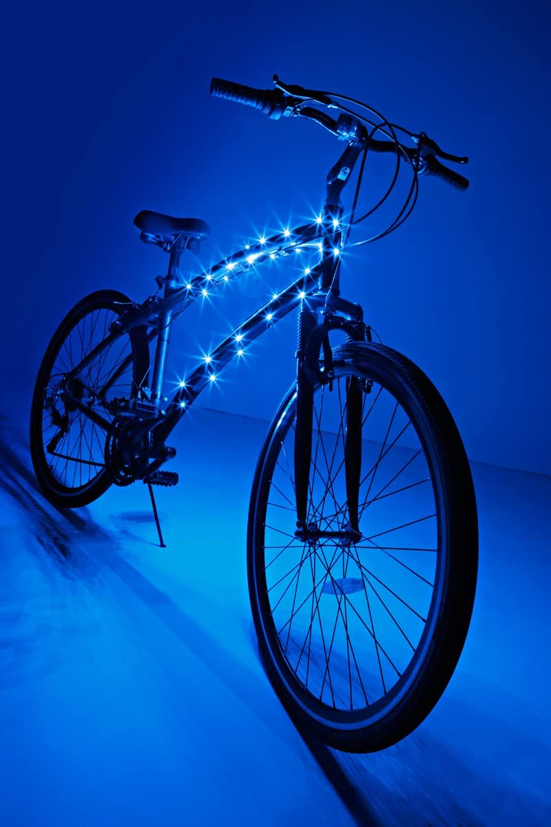 6.5/' FT Bike Bicycle Tire Night Safety Lighting Blue Cosmic Brightz LED Lights