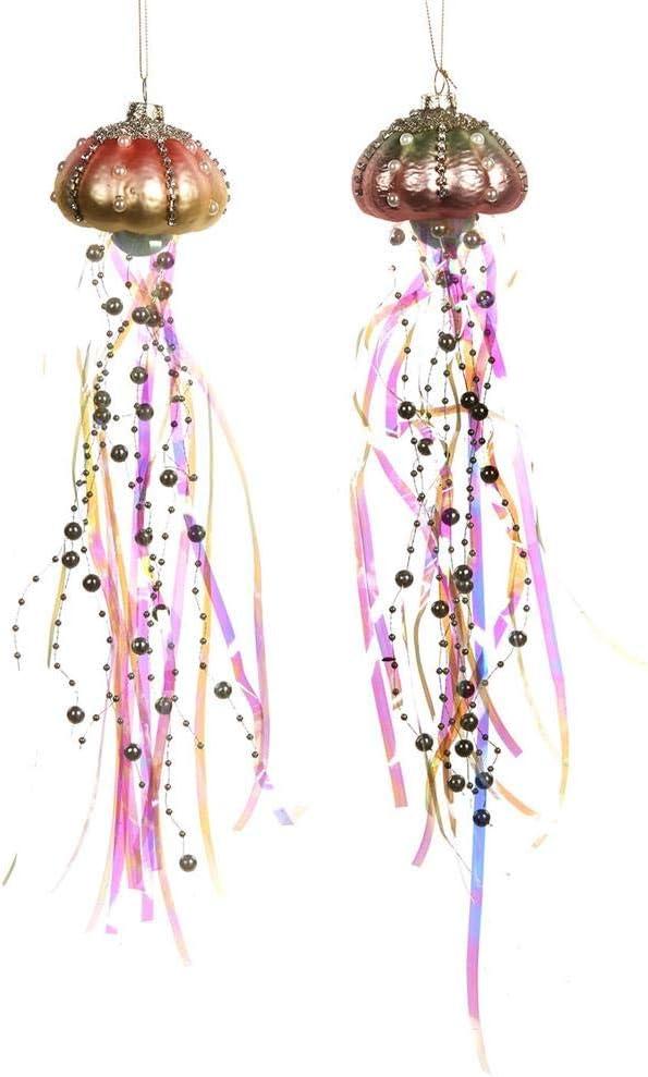 Rose et Violet 30 centim/ètres Goodwill D/écorations en m/édaillon perl/é et perl/é Ensemble de 2