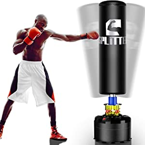 Xsport Pro Freestanding Punching Bag, 69''-182lb Heavy Bag with Durable Suction Base - Free Stand Punch Bag for Adult Youth, Kickboxing Bags,Standing Heavy Punching Bag