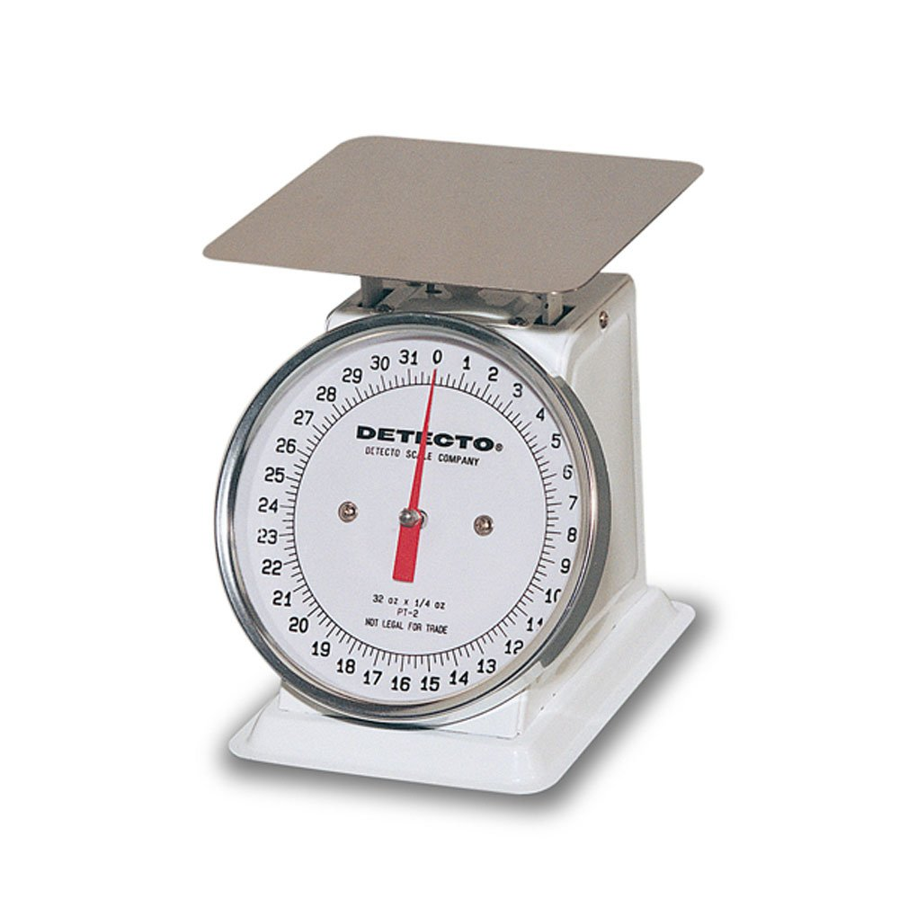 Detecto PT-2 Top Loading Fixed Dial Scale, 32 oz. Capacity, 5.75'' x 5.75'' by Detecto