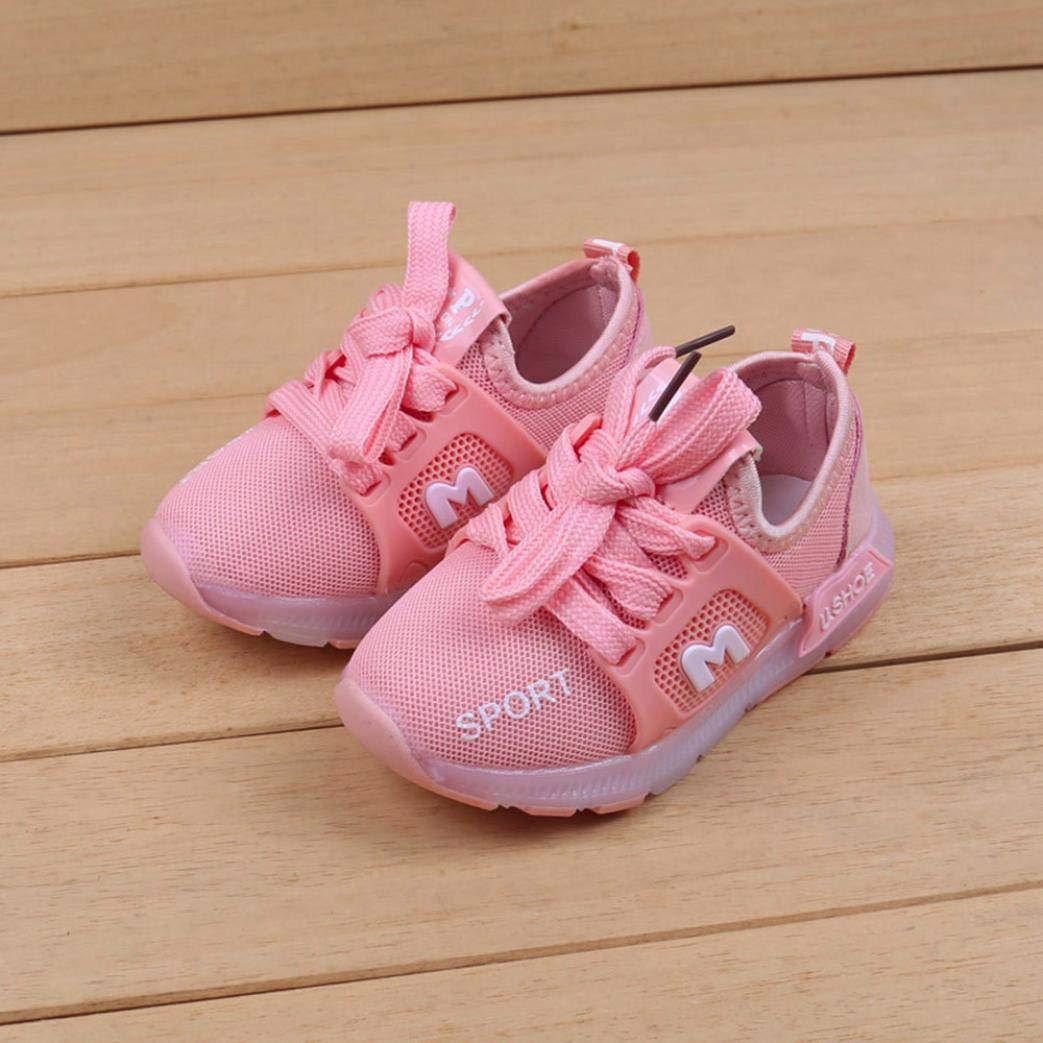 312d4db4c3af86 GongzhuMM Sneakers Bébé Coloré, avec LED Allumée Lumineuse ...