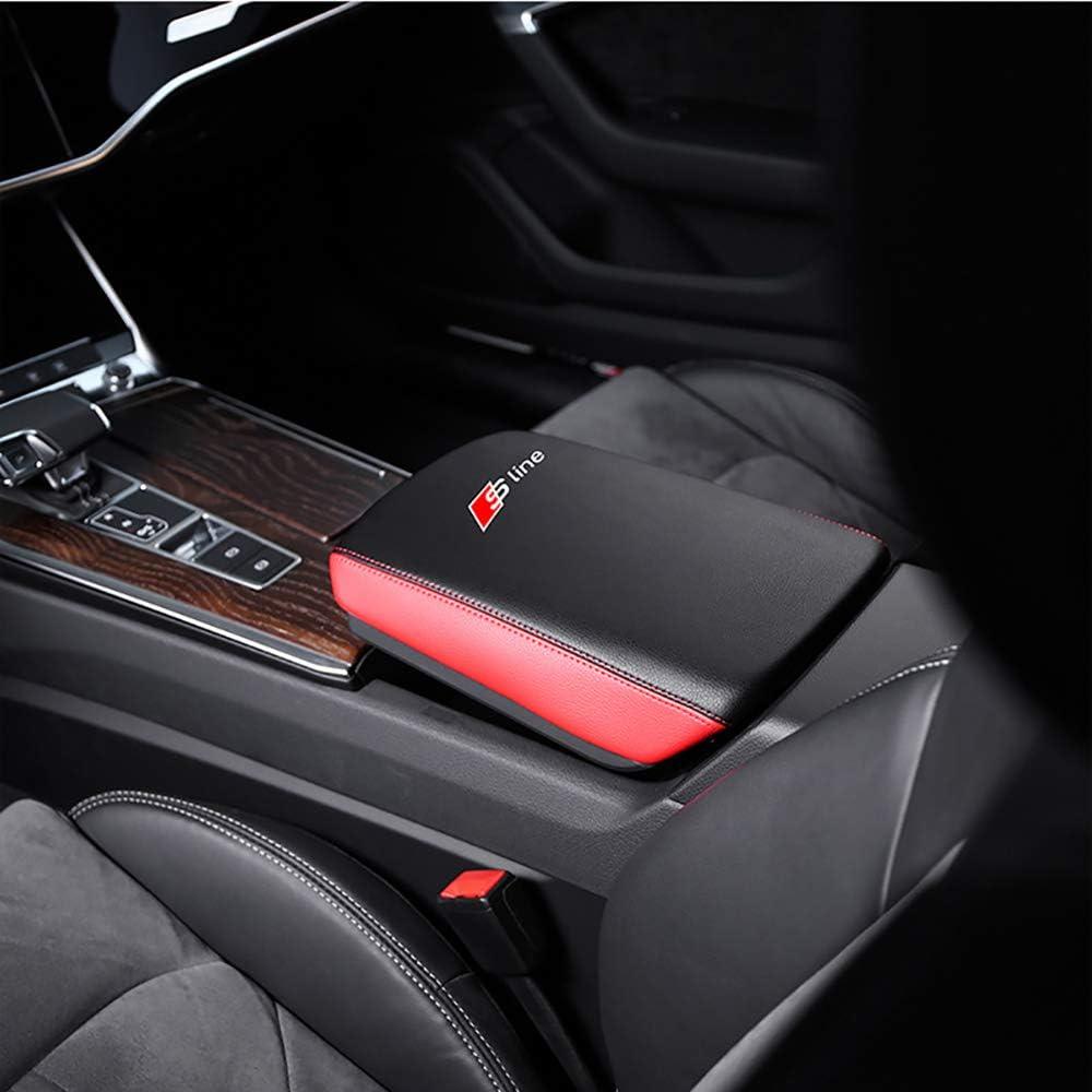 Reposabrazos del autom/óvil Funda de cuero suave,interior central funda protectora para la caja,No 3 Coche Consola Central Reposabrazos Cubierta Protector en Cuero PU Compatible para Audi A6L 2019+