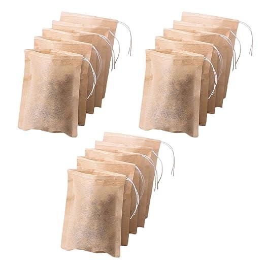 300 Piezas Bolsas de Filtro de Té Vacías Bolsas de Hierbas ...