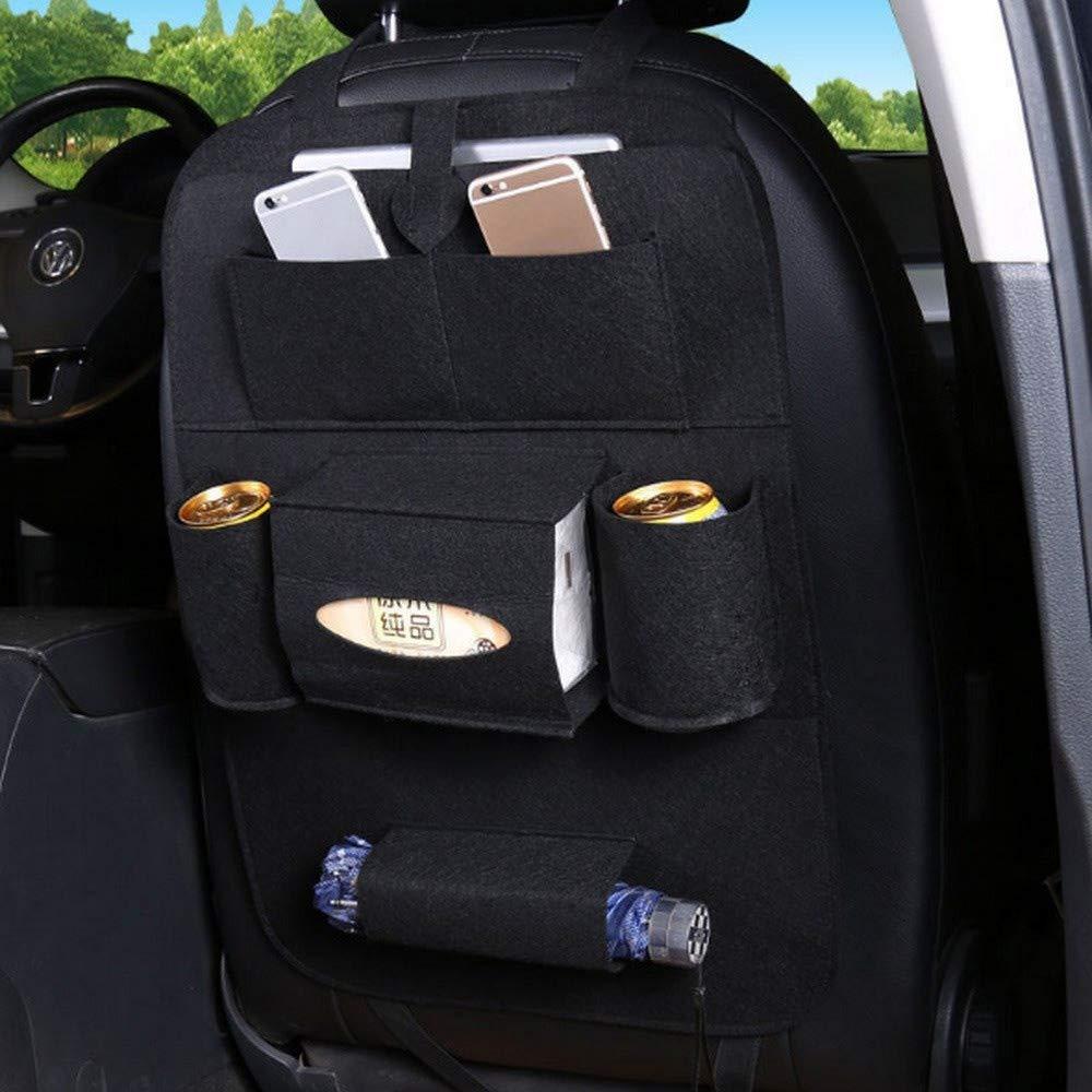 Jiaboyu 1Pc Car Seat Back Organizer,Toys Tissue Box Storage Bottles Backseat Organizer,40cm55cm(Black)