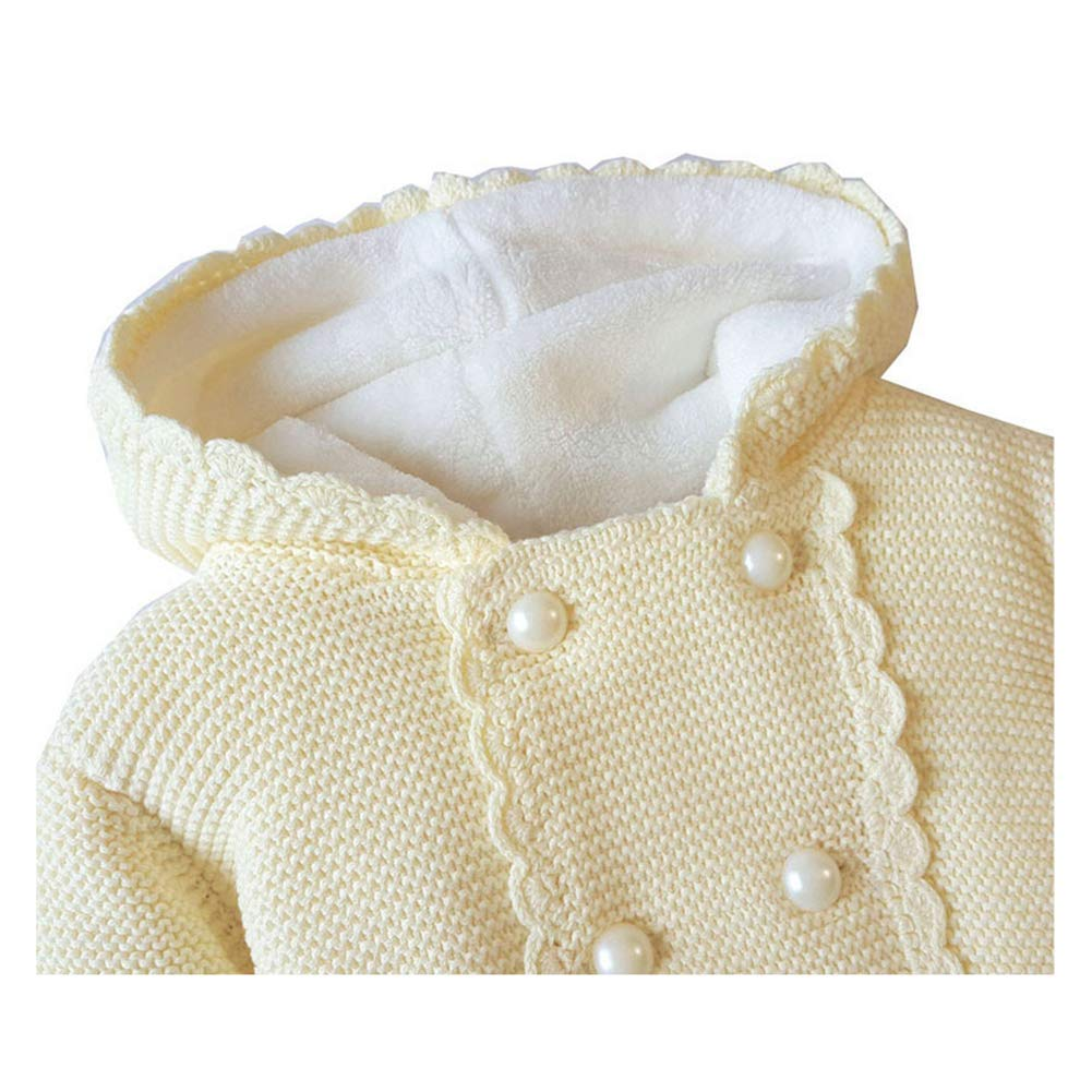 Digirlsor Baby Toddler Sweater Cardigan Little Girl Winter Fleece Thick Coat Outerwear Hoodies 1-4 Years