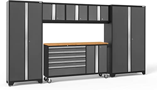NewAge Products Bold Series Gray 6 Piece Set, Garage Cabinets, 50490