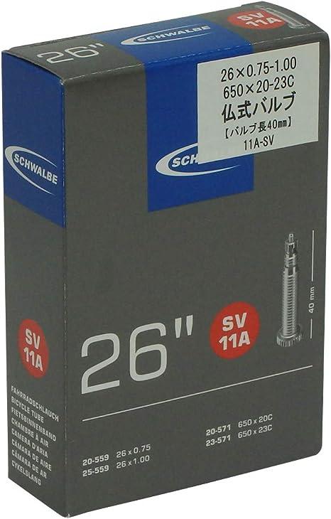 Schwalbe SV 11A Fahrrad Schlauch 26″ //// 26x7//8-1.00″ 20//25-559//571 SV40mm