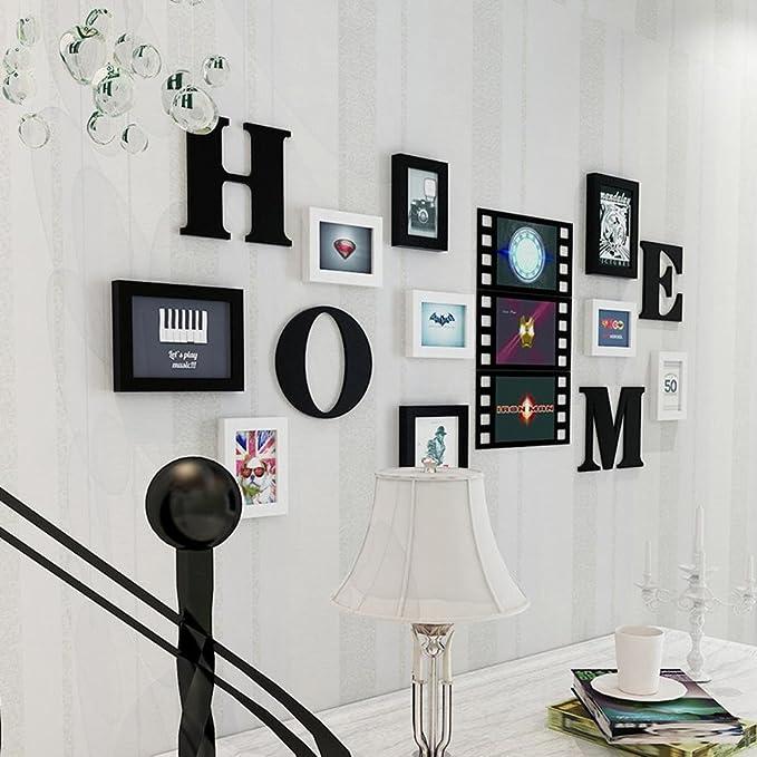 Daeou Marco de pared combinación foto pared salón decoración portaretrato: Amazon.es: Hogar