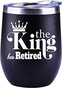 Retirement Gifts for Men, Retirement Gifts For Teachers, Nurse, Coworkers, Dad, Boss Cup Wine Glass