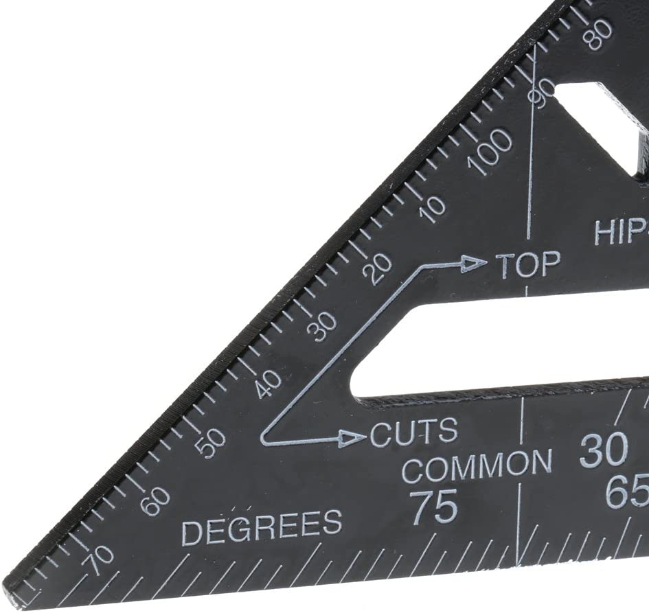 Sharplace /Équerres Imp/érial R/ègle Carr/é Outil de Mesure Angle Protractor 18.5cm 7