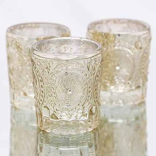 Richland Votive Holders Mercury Primrose Wedding Event Candle Glow Metallic Gold Set of 48