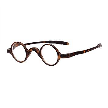 49324470caee Amazon.com  Agstum TR90 Small Round Eyeglasses Retro Reading Glasses ...