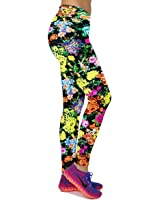 GIGU Women's Flexible Exercise Pants Sports Fitness Yoga Athelete Printed Leggings