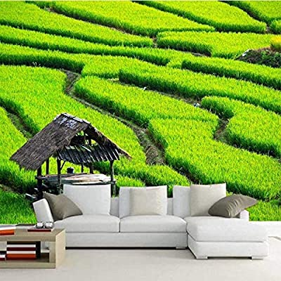 Custom Mural 3d Wallpaper Green Landscape Simple Aesthetic