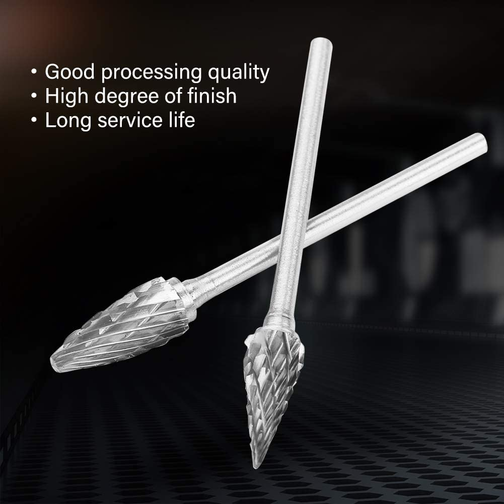 3mm Shank 6mm Head Tungsten Carbide Rotary Files Burrs Shaping 10pcs Carbide Rotary Burr Set for Carving Ccylez Tungsten Carbide Steel Burr Set