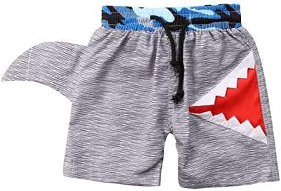 squarex /® Kids Outfits Set for 0-4 Years Child Kids Winter Boys Cartoon Shark Long Sleeve Tops Denim Pants Outfits Set for Casual Beach Party
