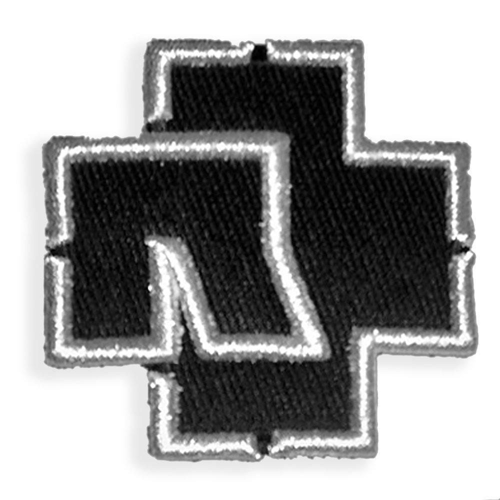 Rammstein Aufn/äher Patch wei/ß Logo 7,5 x 75cm Offizielles Band Merchandise
