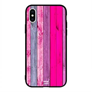 iPhone XS Max / 10s Max Case Cover full Pink & Grey Wooden Pattern Moreau Laurent Premium Design Phone Covers