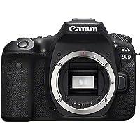 Canon EOS 90D BODY DSLR Kamera, Siyah, 140.7 x 104.8 x 76.8 mm