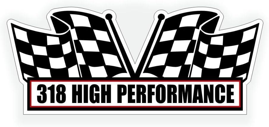 DODGE CHRYSLER PLYMOUTH 318 CID V8 ENGINE AIR CLEANER TOP LID DECAL ORANGE SILVE