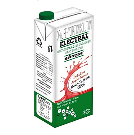 FDC Electral ORS (Apple) - 1 Tetra Pack of 1 Litre