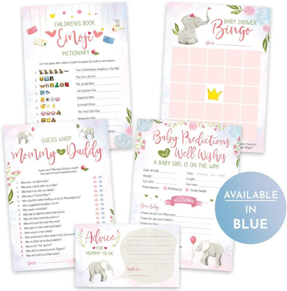 Pink and Gray Girl Baby Shower Decorations Girls Baby Well Wish Cards Set of 12 Girl Baby Shower Games Baby Shower Advice Cards