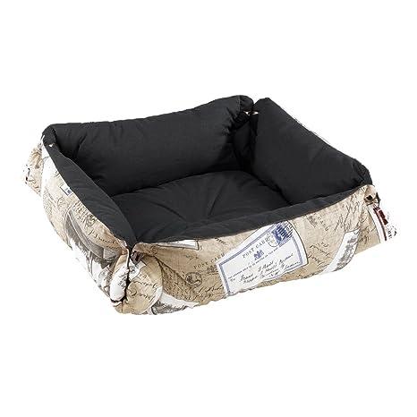 Ferplast kazten de y perros cama de algodón, acolchado, color perla