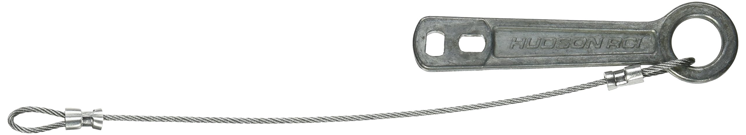 Dixie Ems 5080 Heavy Duty Metal Oxygen Cylinder Wrench, Key with Chain
