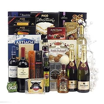 Lote de Navidad con botella de whisky Chivas Regal 12 años, queso, selección de