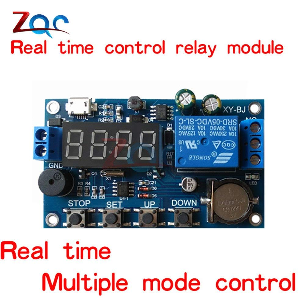 DC 5V Real time Timing Delay Timer Relay Module Switch Control Clock Off Delay Timer Relay Module Wiring Diagram on well pump pressure switch diagram, off delay timer triac, light timer for lighting diagram, off delay relay, hks turbo timer diagram, ic 555 timer diagram, timer switch diagram, dimmer switch installation diagram,