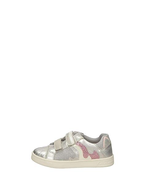 Geox J DJROCK GIRL Silber Schuhe Sneaker Low Kind 44