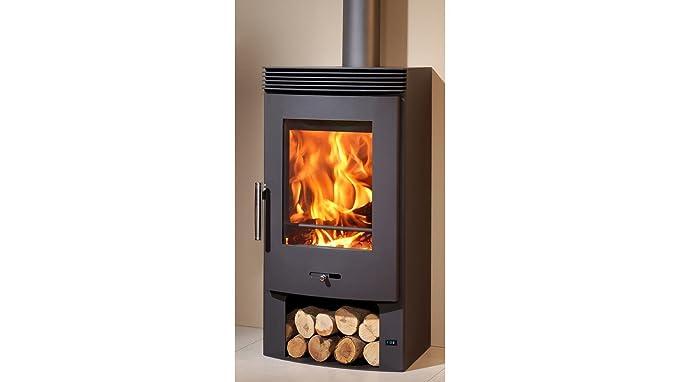 Boulanger m288869 - Poêle à bois BERGEN avec ventilateur: Amazon.fr: Cuisine & Maison