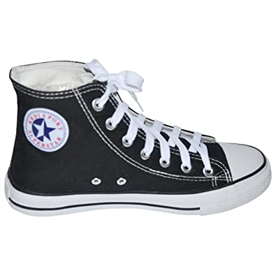 Ish Original Men White Blank Top Red Black Rubber Sole Canvas Sneakers Shoe