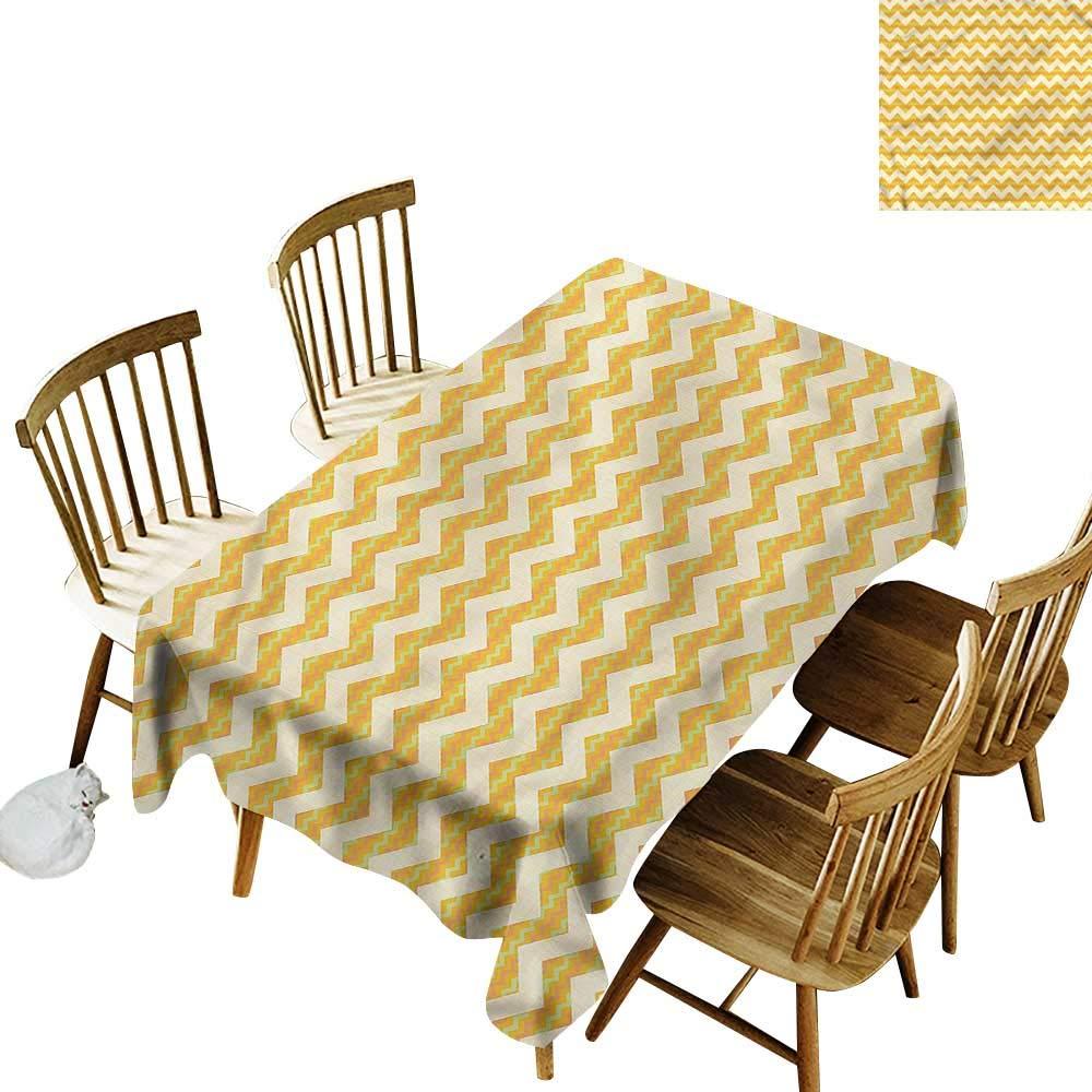home1love Fashions 長方形テーブルクロス シェブロン ヴィンテージスタイル 斜めライン耐性/こぼれ防止/防水テーブルカバー 幅50インチ x 長さ80インチ   B07PVRK8Y9