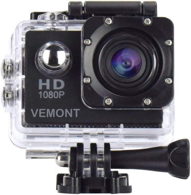 Vemont Cámara Deportiva 1080P HD Impermeable 30M