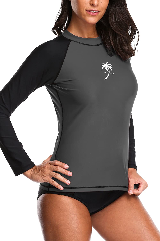 Sociala Damen Rash Guard Langarm UV-Schutz UPF 50 UV Bekleidung