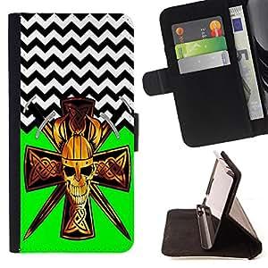 King Case - FOR HTC One M7 - ?Held on so long - Prima caja de la PU billetera de cuero con ranuras para tarjetas, efectivo Compartimiento desmontable y correa para la mu?eca