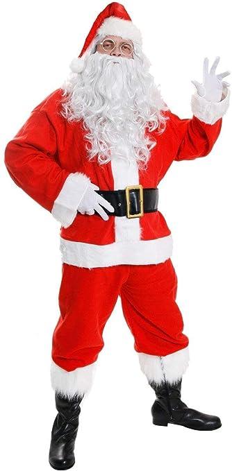 I LOVE FANCY DRESS LTD Costume Deluxe Babbo Natale in Velluto, Set da 7 Pezzi, San Nichola, Natale Padre, (Misure: XXXLarge)