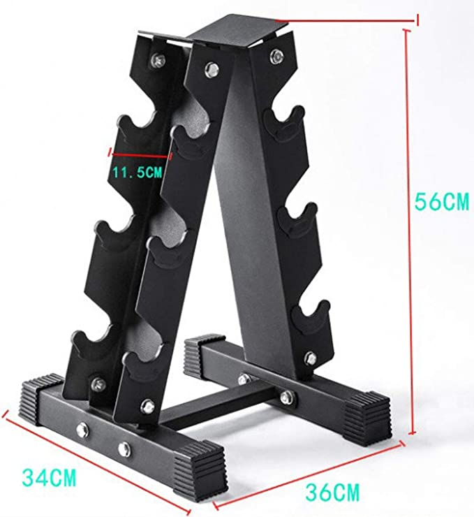 Xj 3 Tier A Type Dumbbell Storage Rack Solid Steel Dumbbell Rack Weightlifting Dumbbell Rack Multi Layer Manual Weightlifting Tower Gym Hexagonal Dumbbell Rack Home Fitness Sports Dumbbell Rack Sports Outdoors