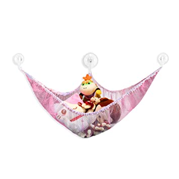 Toy Hammock,Stuffed Animal Toy Organizer Hammock Hanging Storage Pet Net  (120x90x90cm, Pink