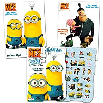 despicable me minions coloring and activity book set with stickers 3 coloring books - Minions Coloring Book