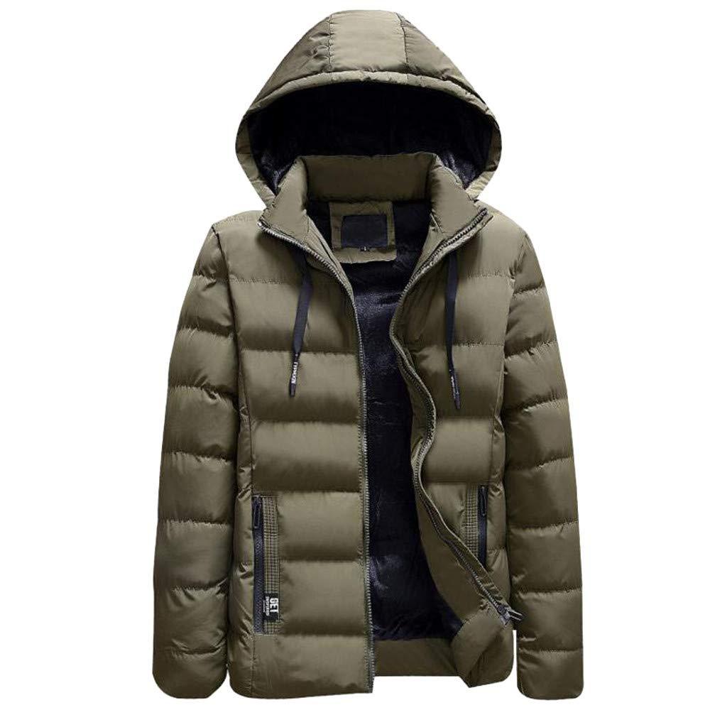 kemilove Men's Classic Short Bubble Jacket Plush Hooded Coat