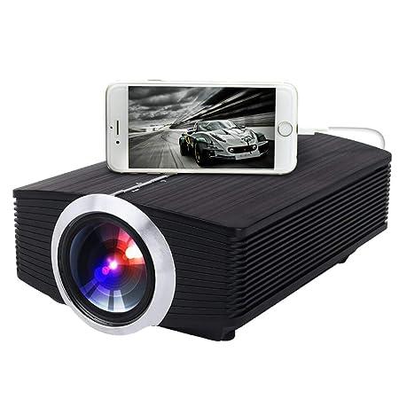 Linbing123 Rojector, Teléfono portátil con Pantalla Proyector LED ...