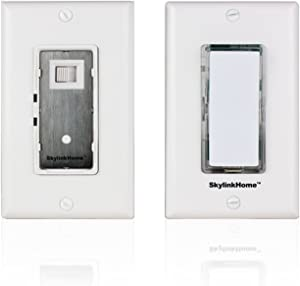 SK-7 Wireless DIY Easy to intall 3-Way Dimmable On Off Anywhere Lighting Home Control Dimmer Wall Switch Set, no neutral wire required.