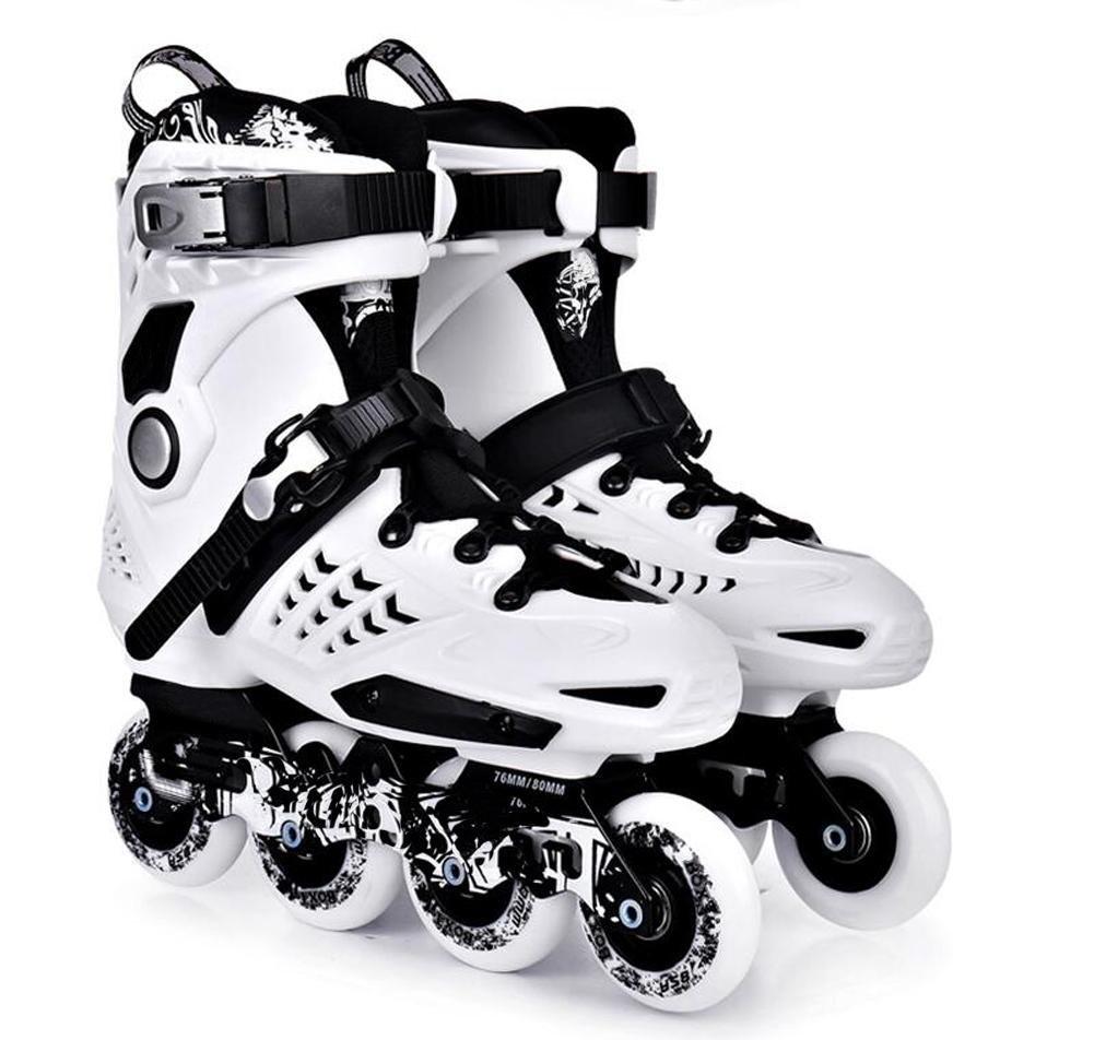 Inline Skates For Men Unisex Racing PP Material white-Black , 42 by TX